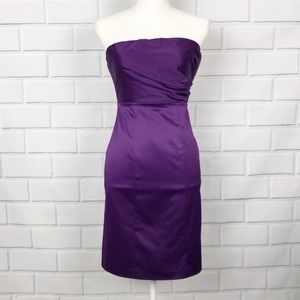 The Limited Purple Strapless Cocktail Dress
